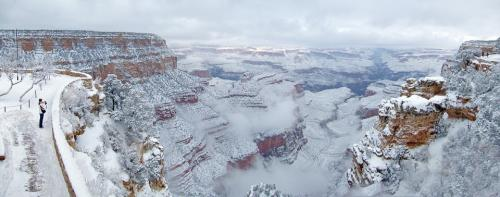 Grand Canyon in winter.